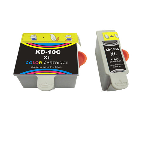 2 Packs remanufactured ink cartridge for Kodak 10XL with chip