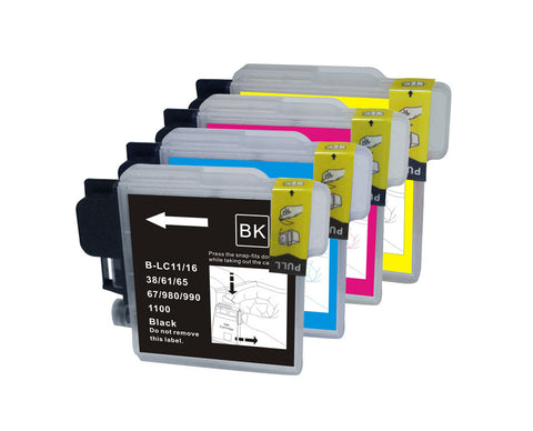 12 Packs remanufactured ink cartridge for Brother LC-61 Combo Set