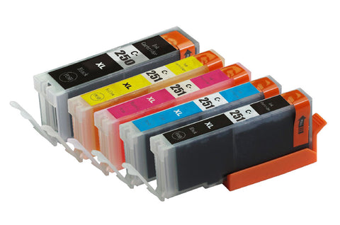 12 packs remanufactured ink cartridge for canon PGI-250xl/ cli-251xl with chip