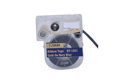 "Nextpage® 1/2"" Ribbon LC Cartridge compatible for Epson LC-4HKK5 Gold on Navy for LabelWorks LW300/400/700/600P/1000P(PT-12G1)"