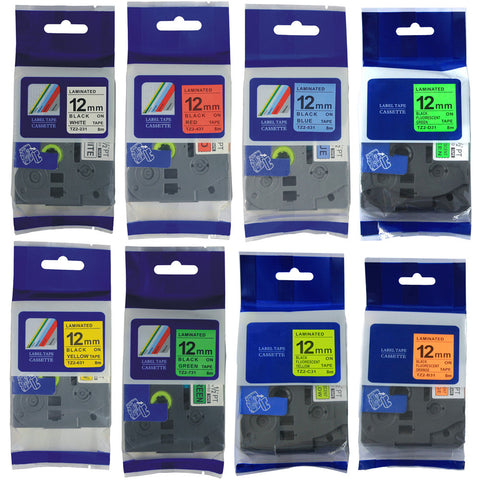 10 PKS New Compatible Brother Label Tape Set including TZE231*3PKS+TZE-B31+TZE-C31+TZE-D31+TZE-431+TZE-531+TZE-631+TZE-731