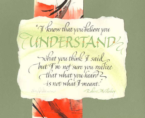 Understand Fine Art Calligraphy Print by Holly Monroe
