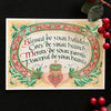Holly Monroe Irish calligraphy print card Blessed be your holidays Cozy hearth Merry Peaceful Heart