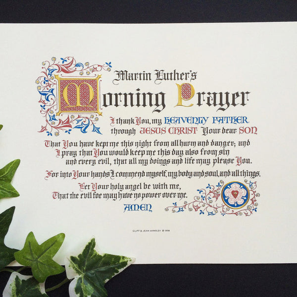 Martin Luther's Morning Prayer
