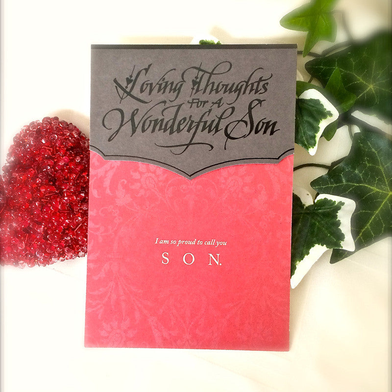 Loving Thoughts for A Wonderful Son  Holly Monroe  Heirloom