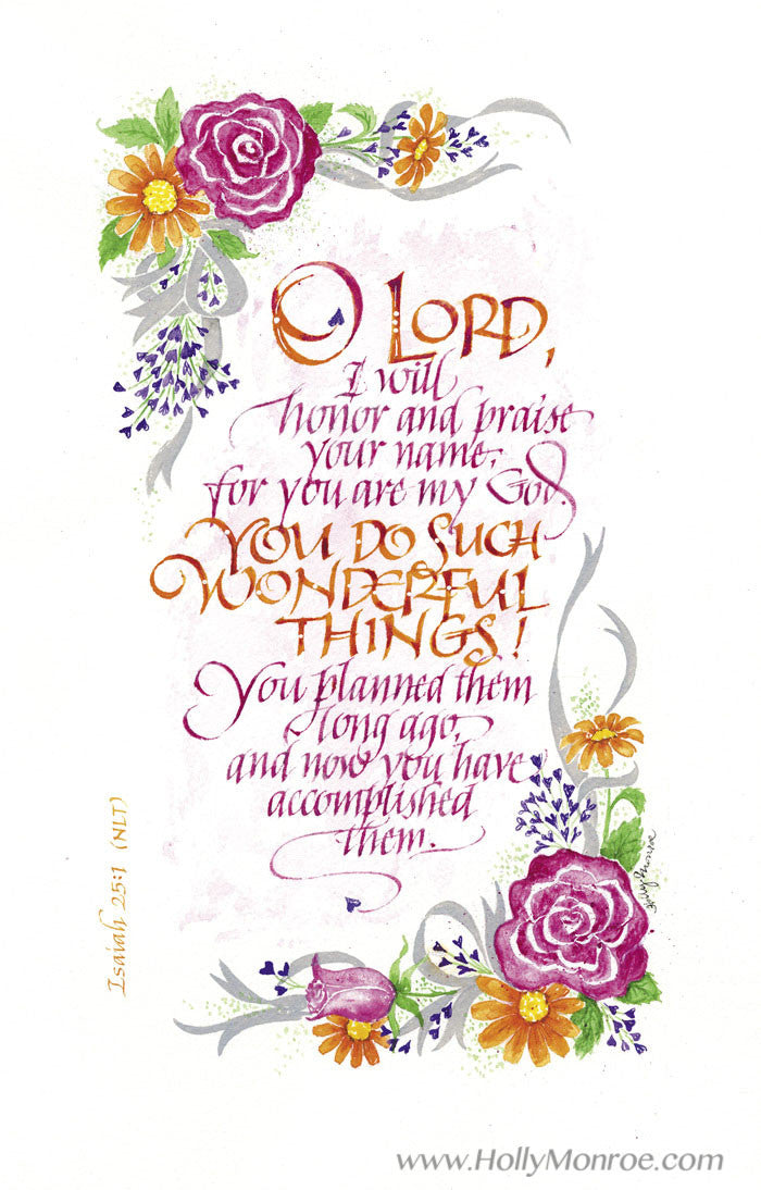 You Do Such Wonderful Things Holly Monroe Calligraphy Print