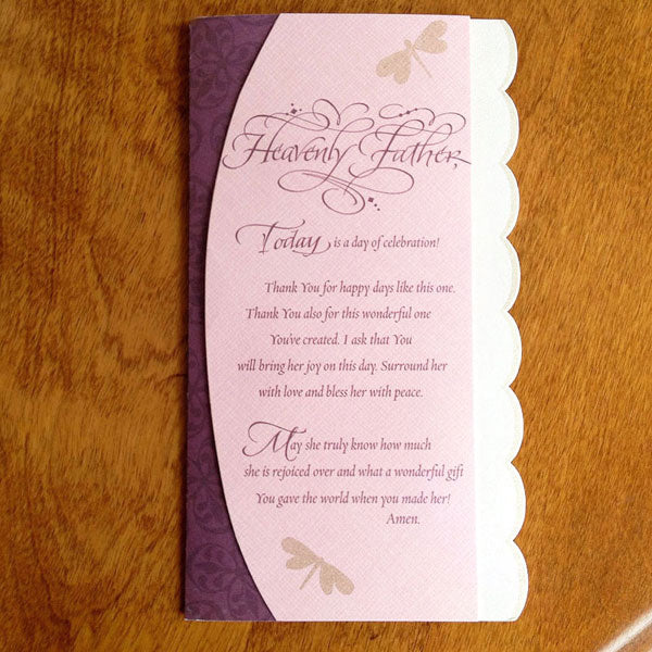 Heavenly Father Today is a Day of Celebration Birthday Card with Holly Monroe Calligraphy