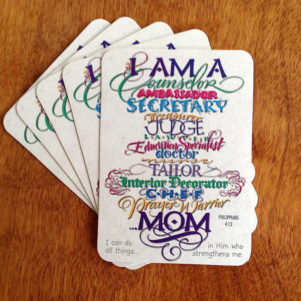 I Am A Mom Pass It On Card Holly Monroe Calligraphy