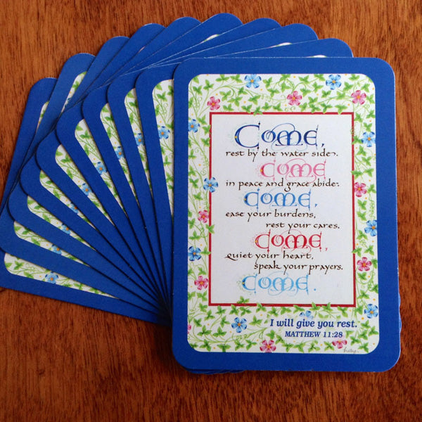 Come Come Come Pass It On Card with Holly Monroe Calligraphy