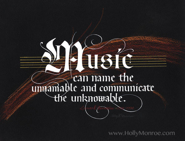 Leonard Bernstein Music quote Holly Monroe calligraphy print