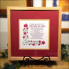 Falling in Love framed calligraphy print Holly Monroe Pedro Arrupe