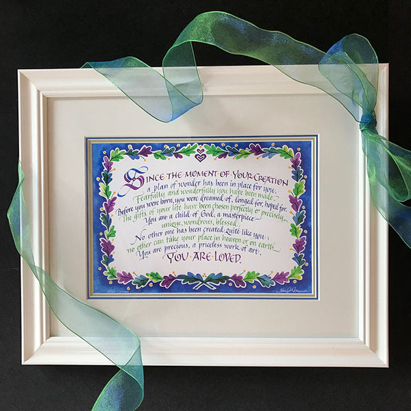Since The Moment of Your Creation | Author Ellen Cuomo Calligraphy Holly Monroe