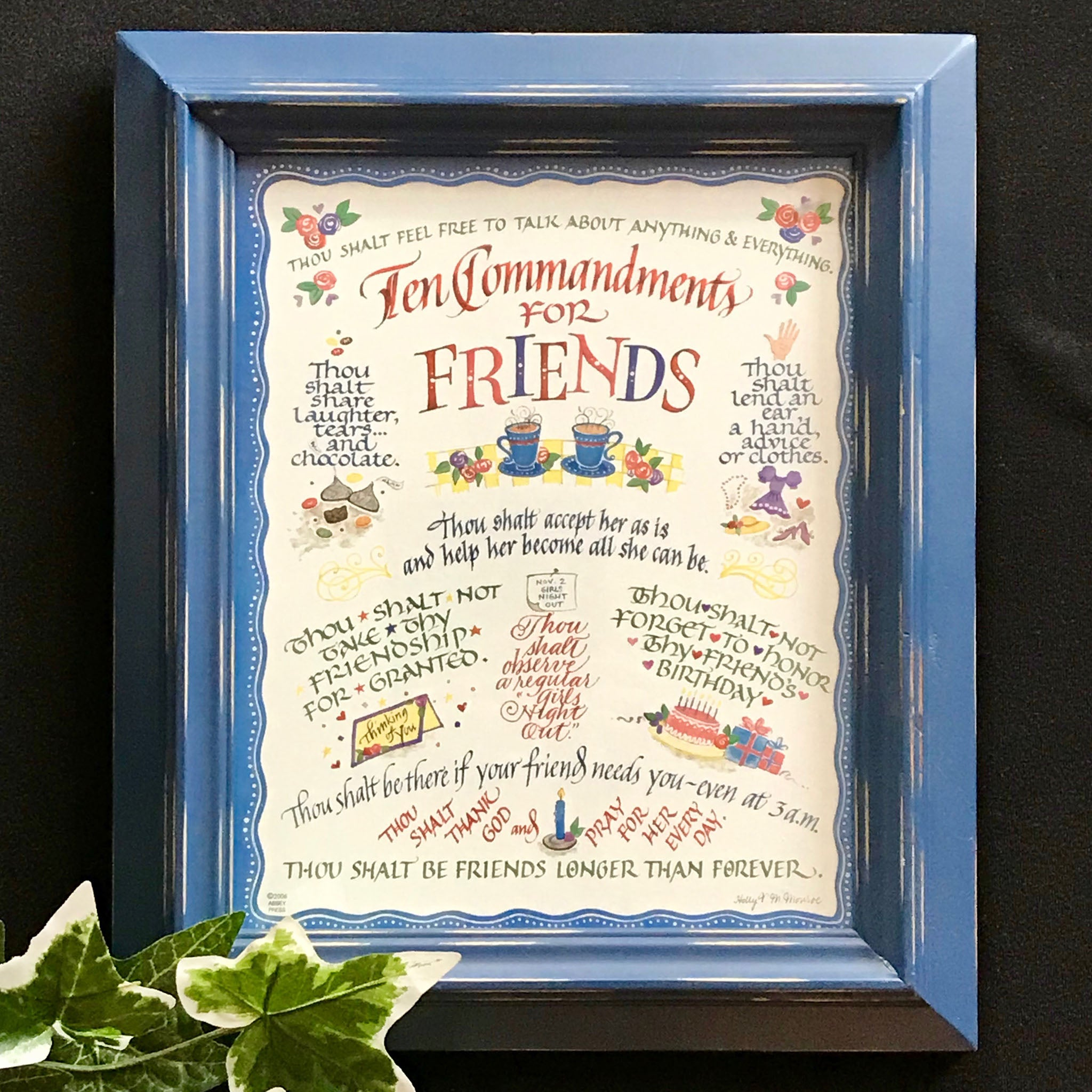 Ten Commandments For Friends