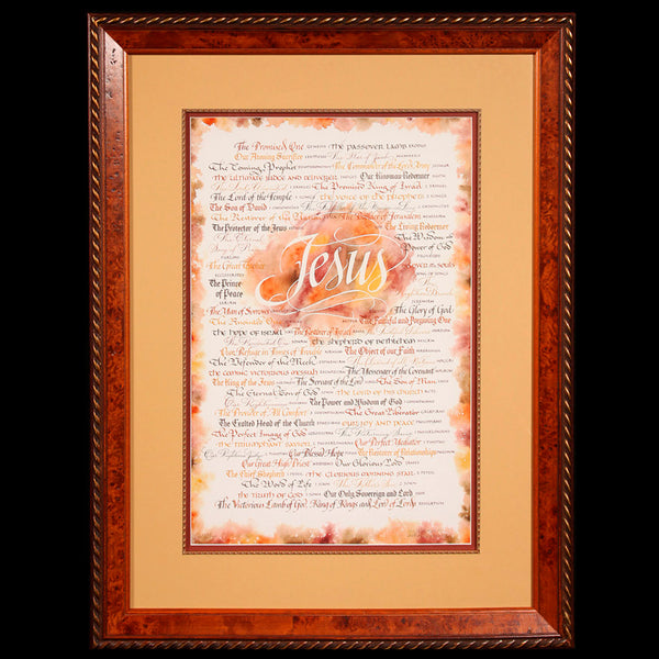 Holly Monroe Jesus Revealed Framed Calligraphy Print Ltd Ed