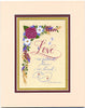 Love Is Patient Love Is Kind 1 Corinthians 13 Holly Monroe Matted Calligraphy Print