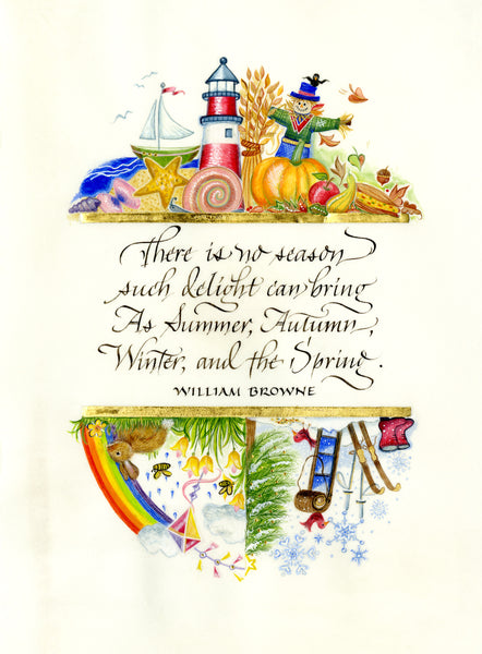 There Is No Season Holly Monroe Calligraphy Print