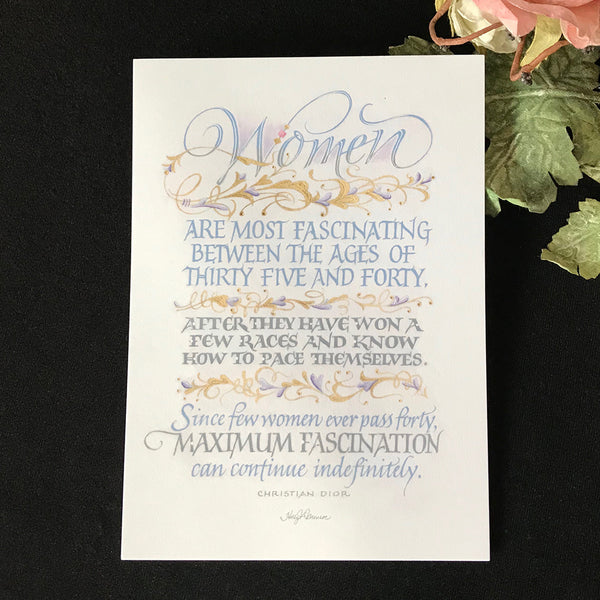 Women Art Most Fascinating - Calligrapher Holly Monroe
