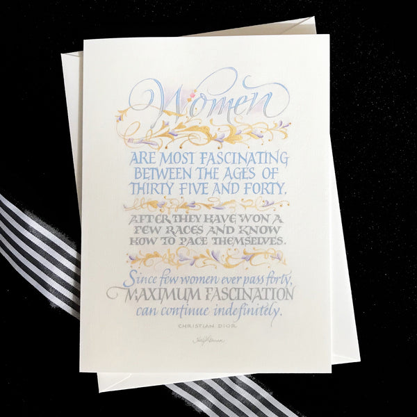 Women Are Most Fascinating - Calligrapher Holly Monroe