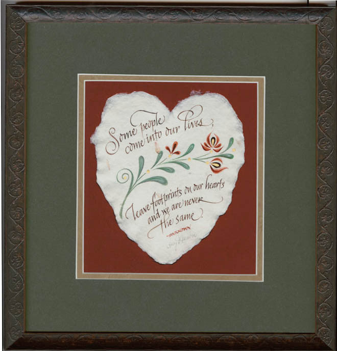 Footprints On Our Hearts Fine Art Calligraphy print by Holly Monroe