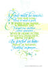 Love Must Be Sincere Romans 12 Holly Monroe Calligraphy Print