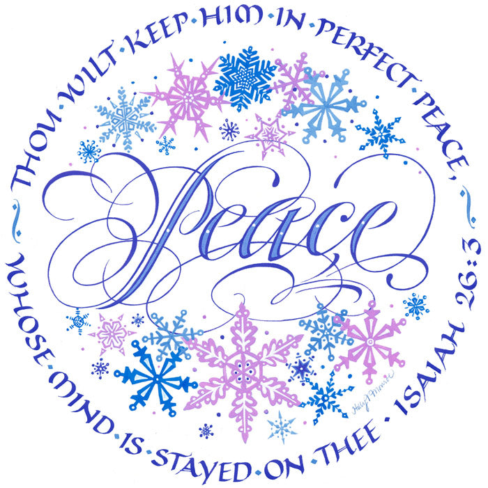Peace Isaiah 26 3 Holly Monroe Calligraphy Print