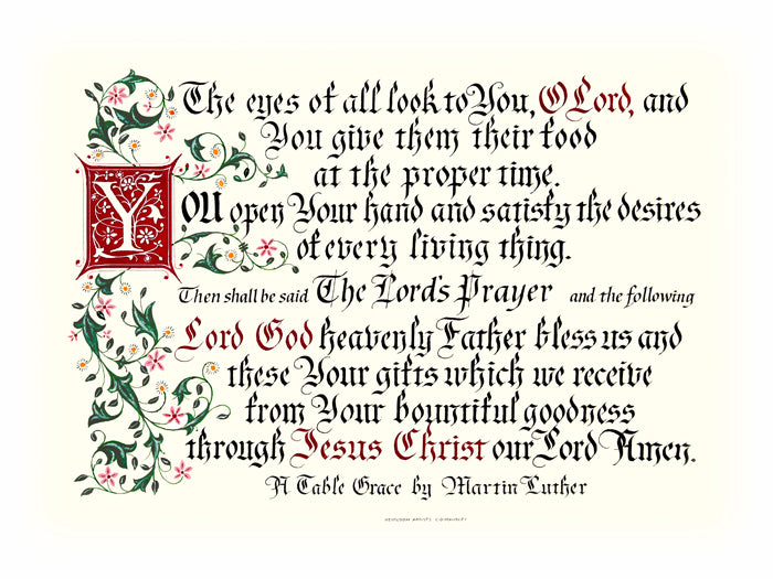 A Table Grace | Clifford Mansley Calligrapher