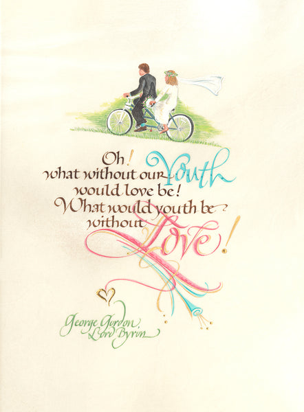 Lord Byron Quote | Calligraphy by Holly Monroe
