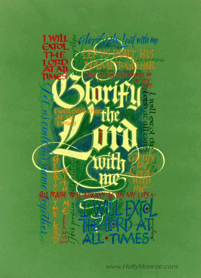 Glorify the Lord    Holly Monroe Calligraphy