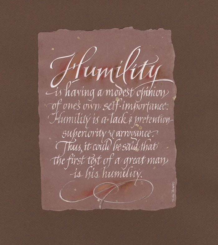 Humility Calligraphy Print Holly Monroe Calligrapher