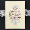God Grant Me The Serenity Prayer with Holly Monroe Calligraphy Print