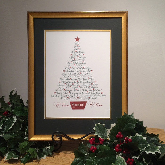 Christmas Tree-Names of Jesus|Holly Monroe Calligraphy – Heirloom ...