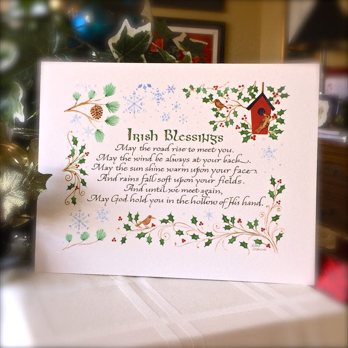 Irish Blessings May The Road Rise Calligraphy Print Holly Monroe Calligrapher