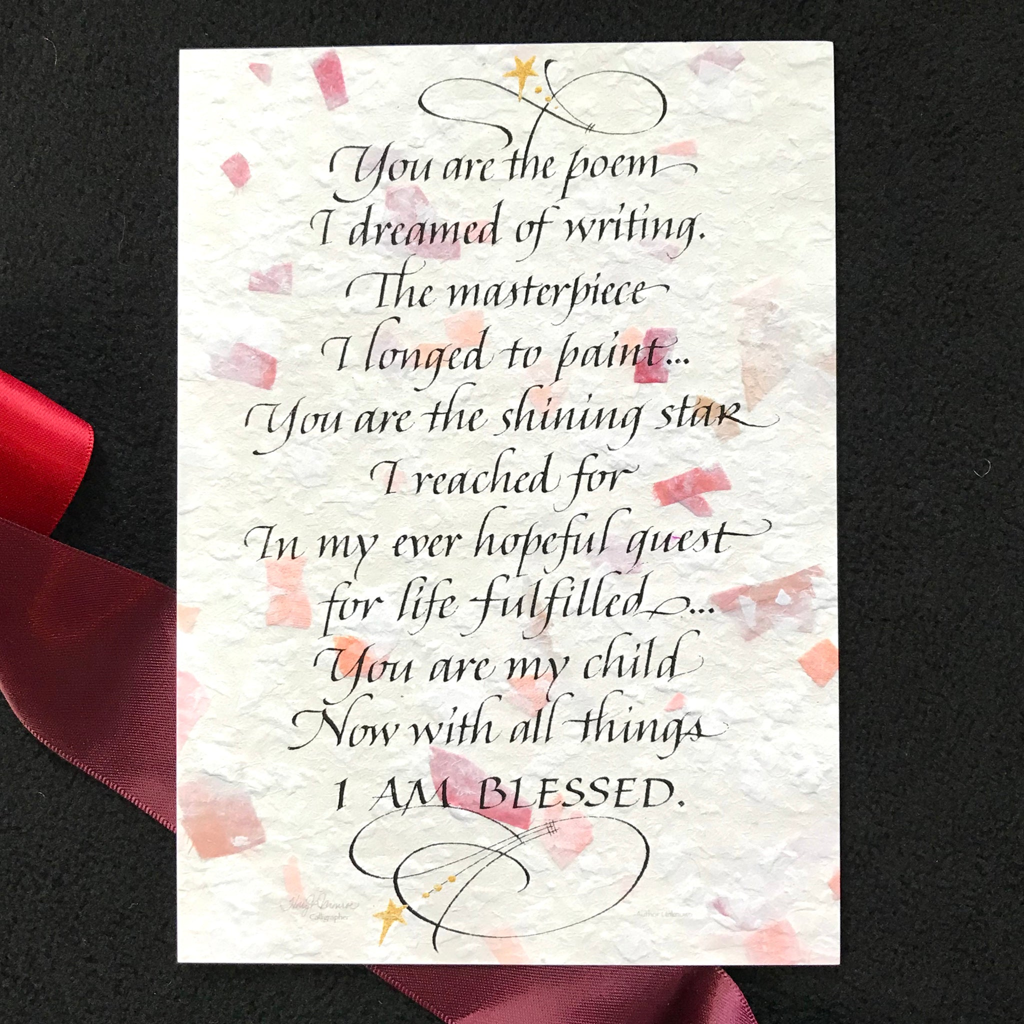 You Are The Poem Holly Monroe Calligraphy Print