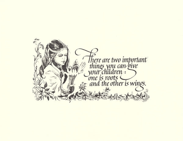 Roots and Wings Calligraphy print by Holly Monroe