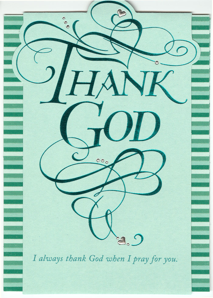 Holly Monroe Calligraphy Card Thank God DaySpring Philemon 1