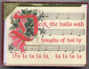 Deck the Halls boxed set Christmas calligraphy cards Holly Monroe