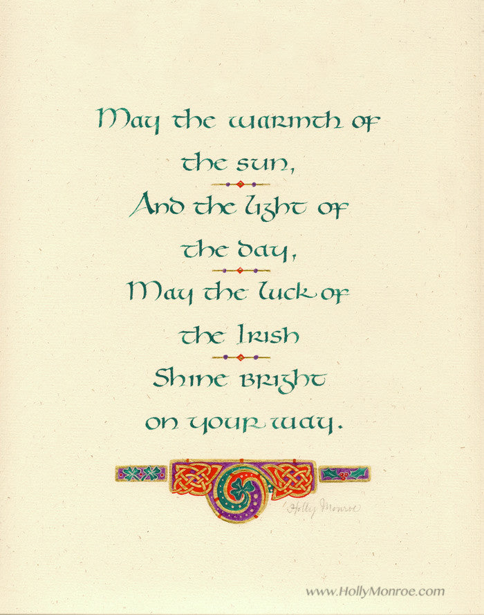May The Warmth Holly Monroe Calligraphy Print