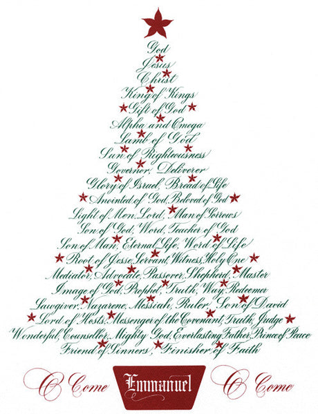 Christmas Tree Names Of Jesus Holly Monroe Calligraphy