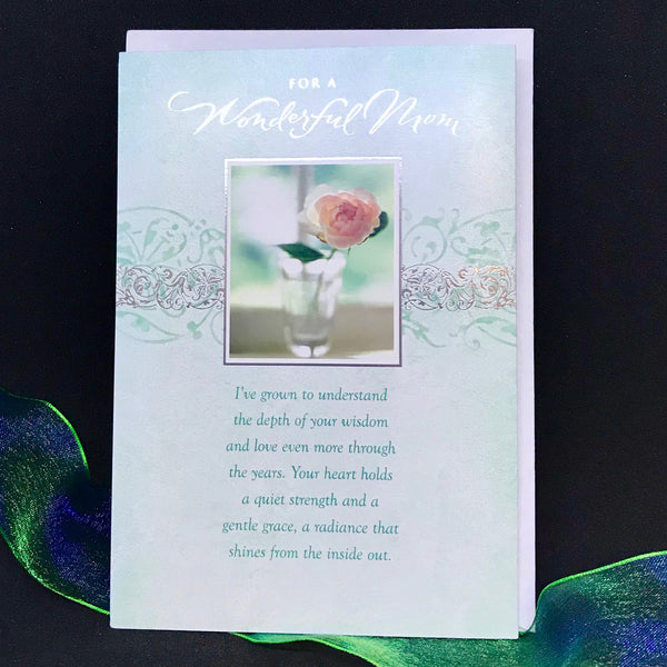 Birthday Card for a Wonderful Mom with Holly Monroe calligraphy