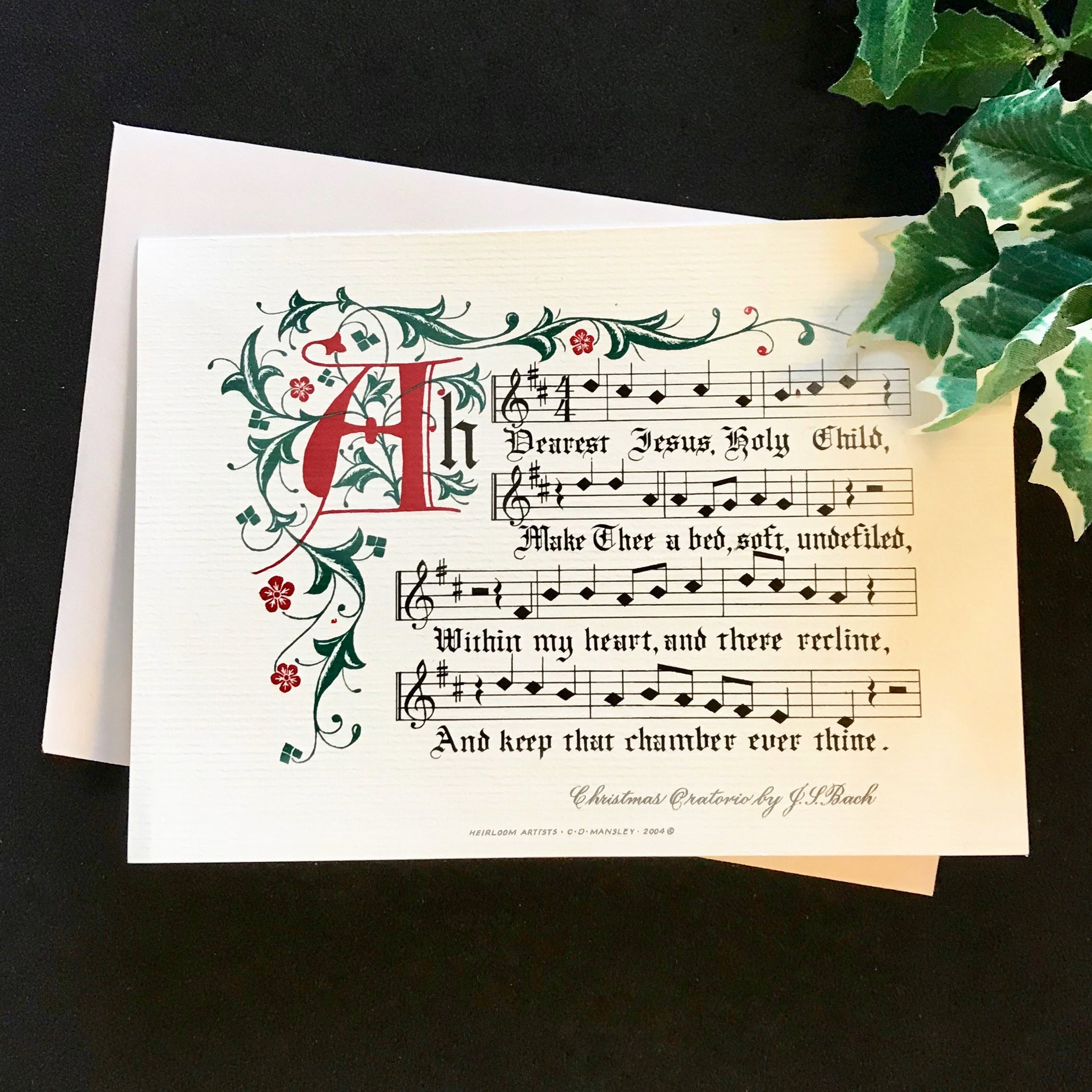 Ah dearest Jesus Holy Child Clifford Mansley Calligrapher Christmas Card