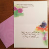 Just when the caterpillar thought life was over...Butterfly encouragement card inside view by calligrapher Holly Monroe