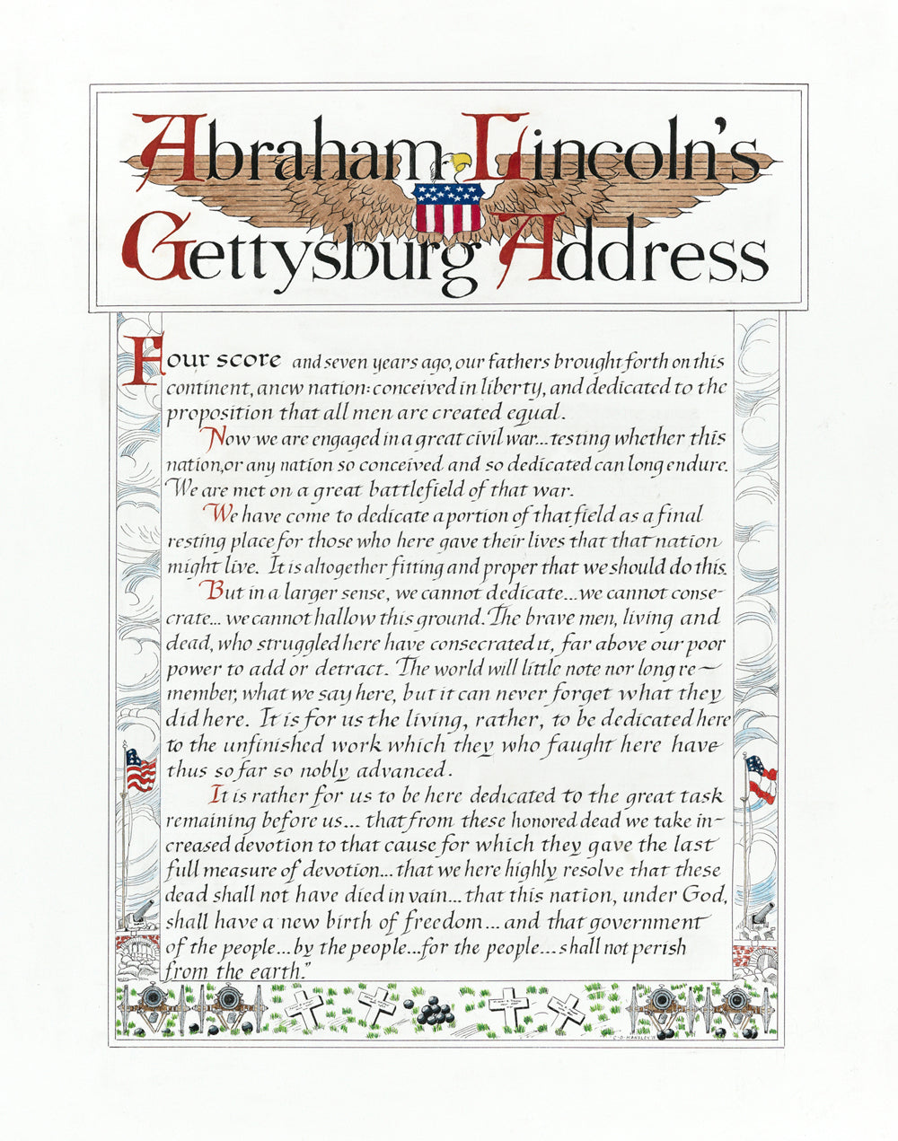 graphic about Gettysburg Address Printable titled Gettysburg Protect