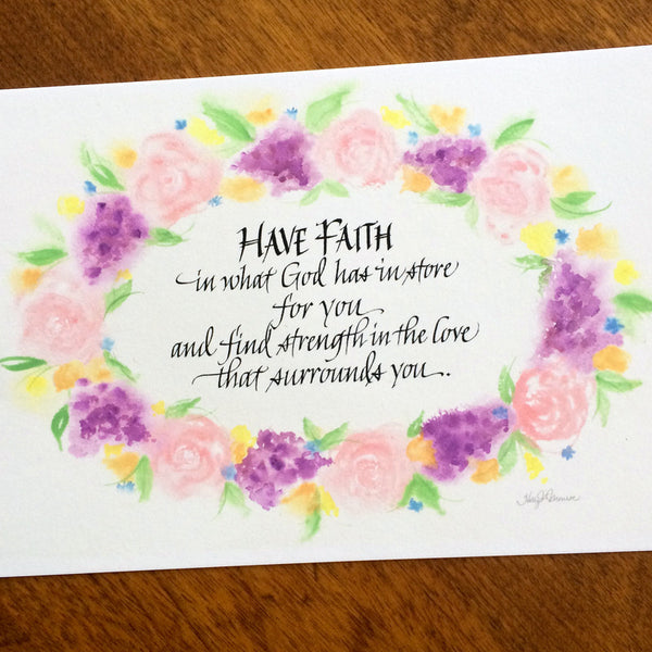 Have Faith in what God has for You Holly Monroe calligraphy print