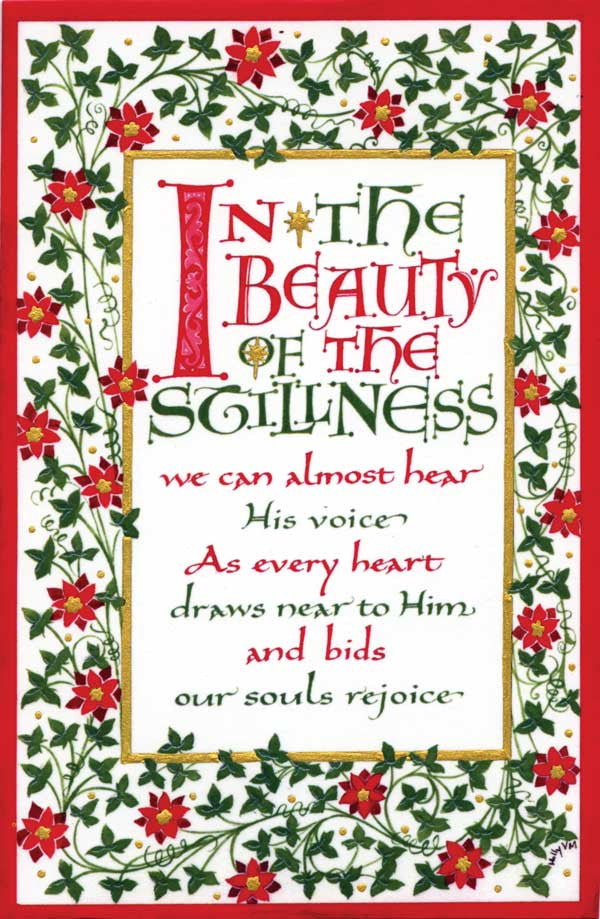 In The Beauty Fine Art Calligraphy Print by Holly Monroe
