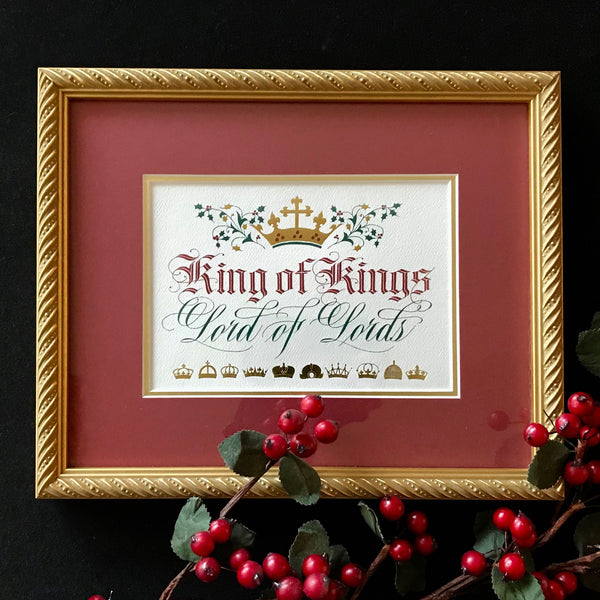 Clifford Mansley Sr King Of Kings Framed Calligraphy Print