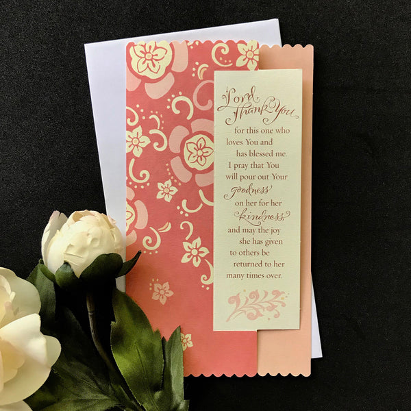 Lord Thank You for this One Thinking of You Card with Holly Monroe Calligraphy
