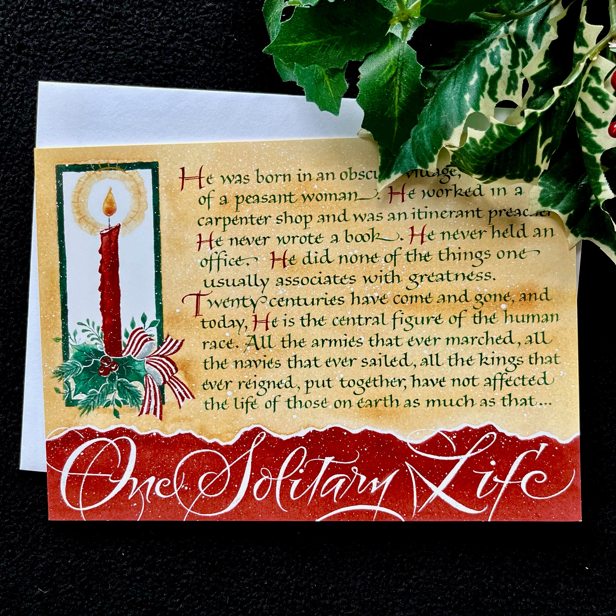 One Solitary Life | Holly Monroe Calligraphy – Heirloom Artists ...