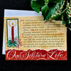 One Solitary Life Christmas Card Holly Monroe calligraphy