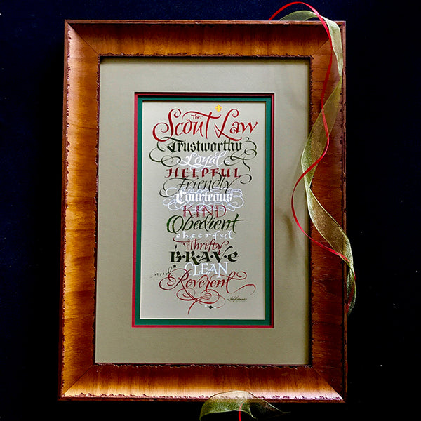 The Scout Law    Holly Monroe Calligraphy