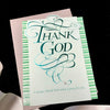 Holly Monroe Calligraphy Friendship Card Thank God DaySpring Philemon 4